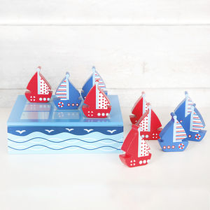 Blue And Red Ship Tic Tac Toe - board games