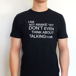 'Not Awake' T Shirt - for young men