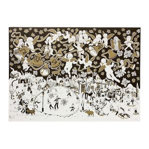 Winter Snow Scene Giftwrap - cards & wrap