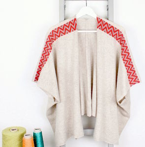Oatmeal Knitted Lambswool Cardigan
