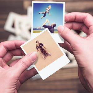 Personalised Mini Polaroid Style Photo Cards - thank you cards