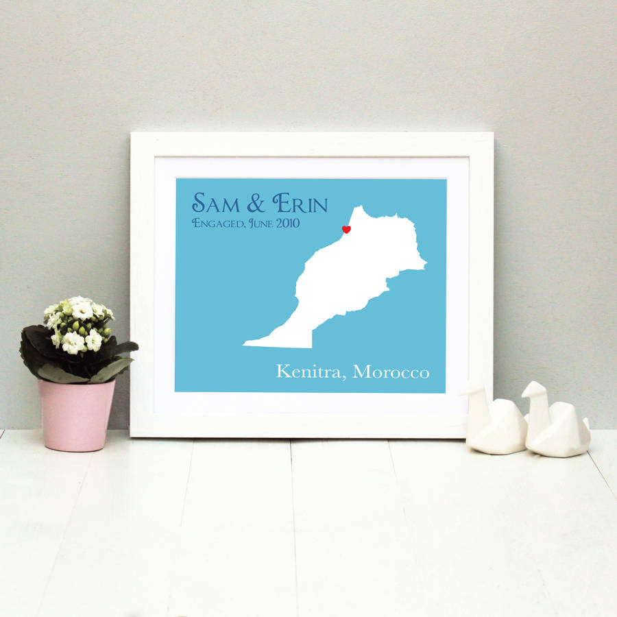 Engaged In Morocco Personalised Print