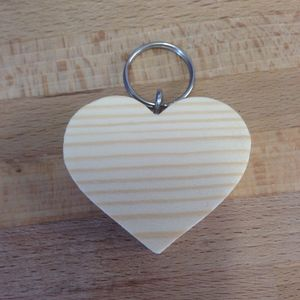 Personalised Heart Shaped Keyring