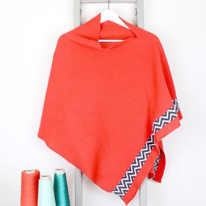 Coral Knitted Lambswool Poncho - view all gifts for her