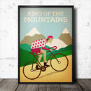 King Of The Mountains Retro Cycling Poster