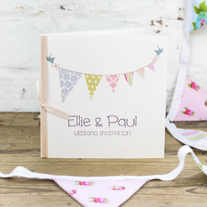 Bunting Wedding Invitation - invitations
