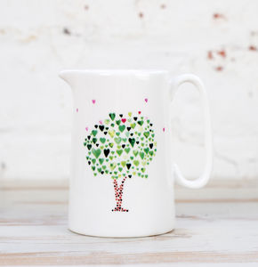 Half Pint Tree Of Hearts Milk Jug