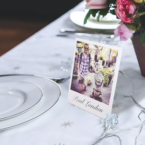 Personalised Stand Up Place Setting Photo Cards - sale by room