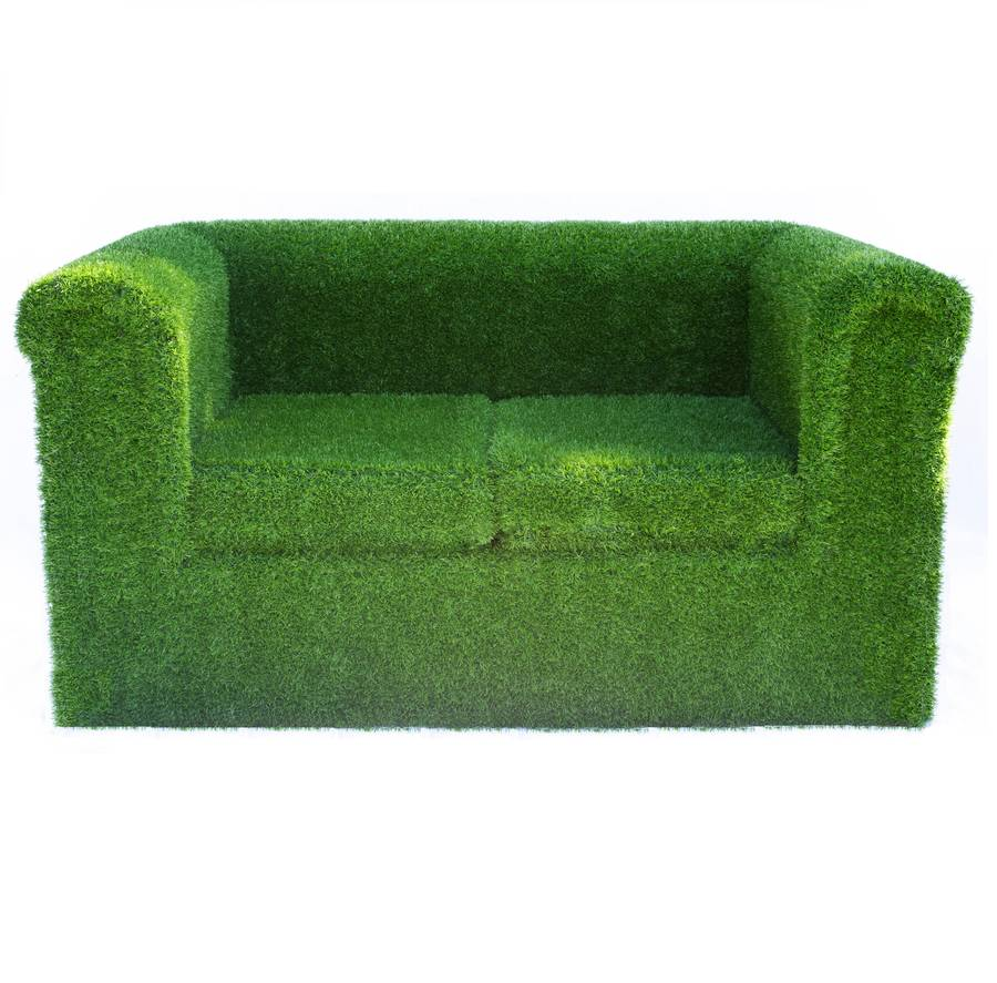 Artificial grass garden sofa by artificial landscapes Garden loveseat