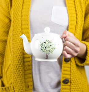 Small Tree Of Hearts Teapot