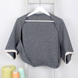 Charcoal Knitted Lambswool Shrug - tops & t-shirts