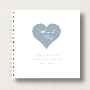 Personalised Wedding Planner Book - albums & guest books