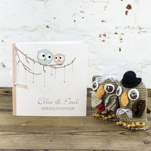 Owls Wedding Invitation - wedding stationery