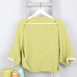 Spring Green Knitted Lambswool Shrug - summer clothing