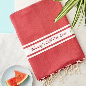 Personalised Beach Towel - swimwear & beachwear