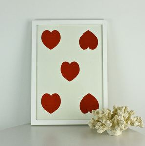Hearts Print - shop by price