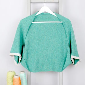 Jade Knitted Lambswool Shrug