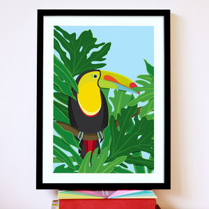 Toucan In The Jungle Bird Print - art by category