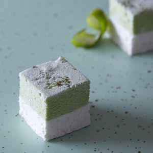 Lime And Toasted Coconut Portabello 36 Mallow Party Box - marshmallows