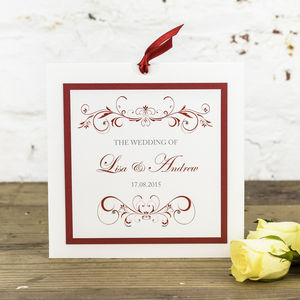 Lucy Wedding Invitation - wedding stationery