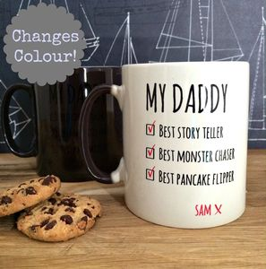 Secret Colour Changing Personalised 'My Daddy' Mug Sale