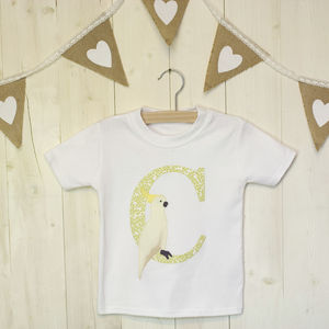 C Is For Cockatoo Applique Letter T Shirt