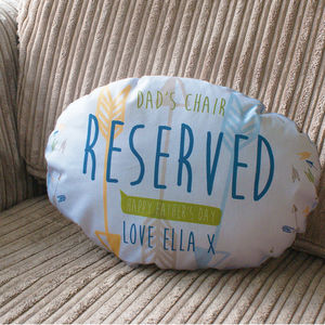 Personalised Fathers Day Decorative Cushion - bedroom