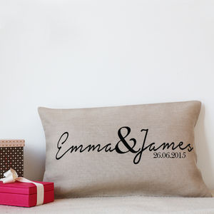 Linen Wedding Decoration Cushion
