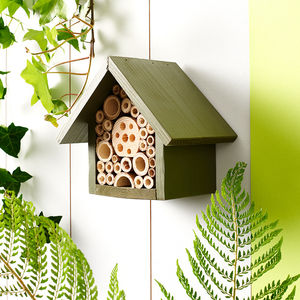 Handmade Single Tier Bee Hotel - more