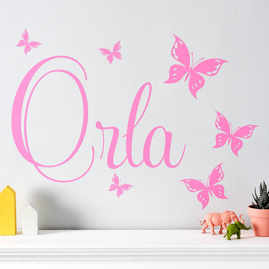 personalised butterfly wall stickers by parkins interiors