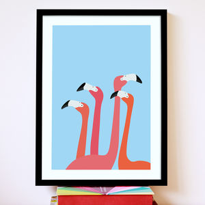 Flamingoes Print - fresh wall art