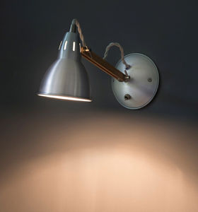 Oak And Aluminium Wall Lamp