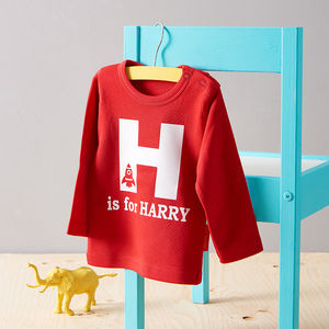 Personalised Alphabet T Shirt - for babies