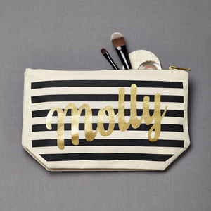 Personalised Stripe Make Up Case - style-savvy
