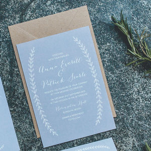 Boho Graceful Calligraphy Wedding Invitations