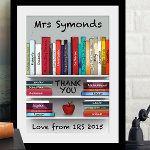Personalised 'Thank You Teacher' Art - posters & prints for children