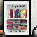 Personalised Thank You Teacher Art