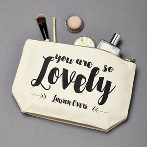 Personalised 'You Are Lovely' Make Up Case - make-up & wash bags