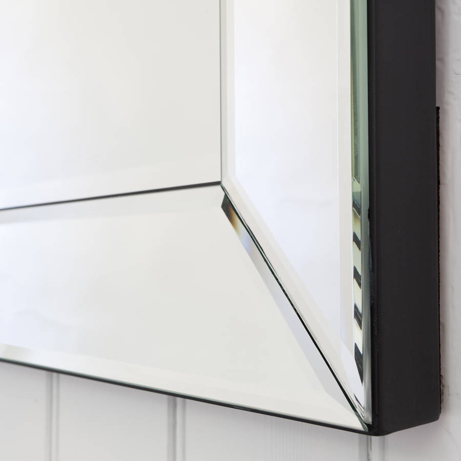 All glass bevelled mirror by decorative mirrors online for Beveled glass mirror