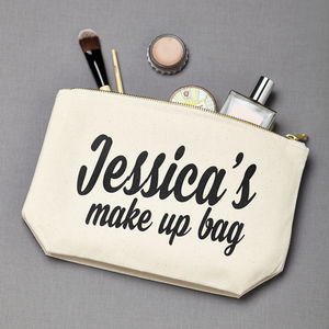 Personalised Make Up Bag - womens
