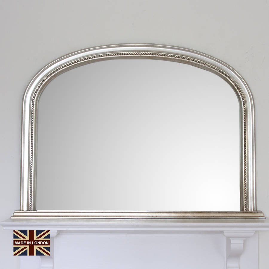 Diana champagne silver overmantel mirror by decorative for Mirror o mirror