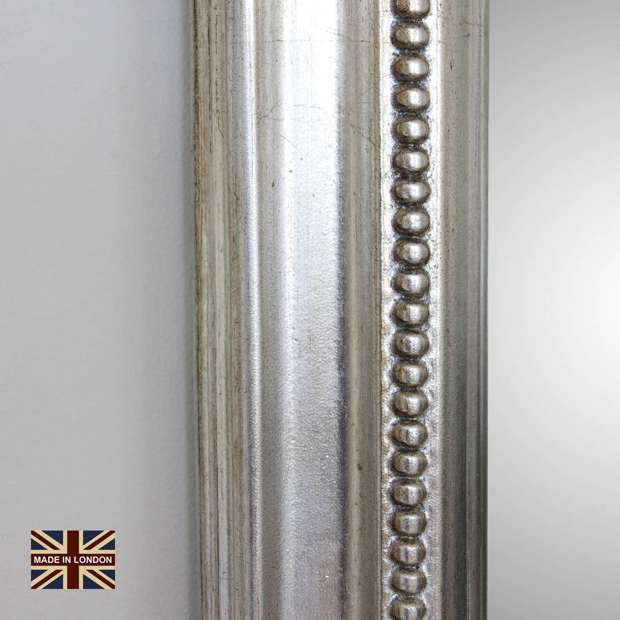 Diana Antiqued Silver Overmantel By Decorative Mirrors