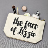 Personalised 'The Face Of' Make Up Bag - health & beauty