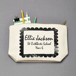 Personalised Back To School Pencil Case - make-up bags