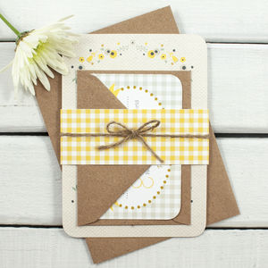 Floral Gingham Wedding Invitation Bundle - wedding stationery