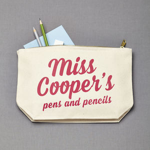 Personalised Teacher Gift Oversized Case Pouch - make-up & wash bags
