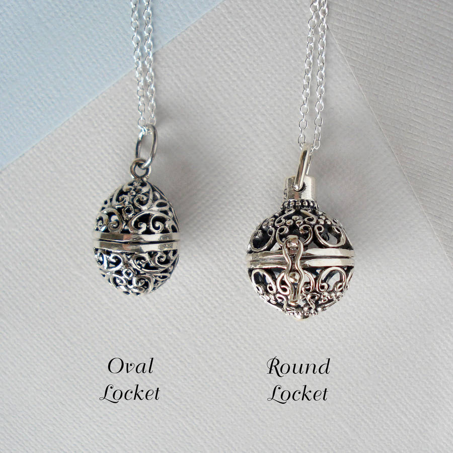 sterling locket lockets chain antique fancy vintage necklace silver pendant heart products to