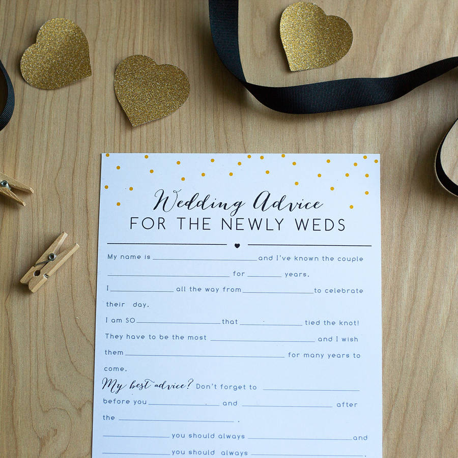 pack of 10 alternative wedding guestbook questionnaires by sincerely ...