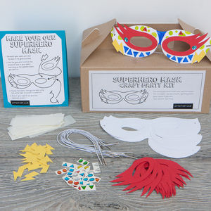 Superhero Mask Craft Party Kit - wedding day activities
