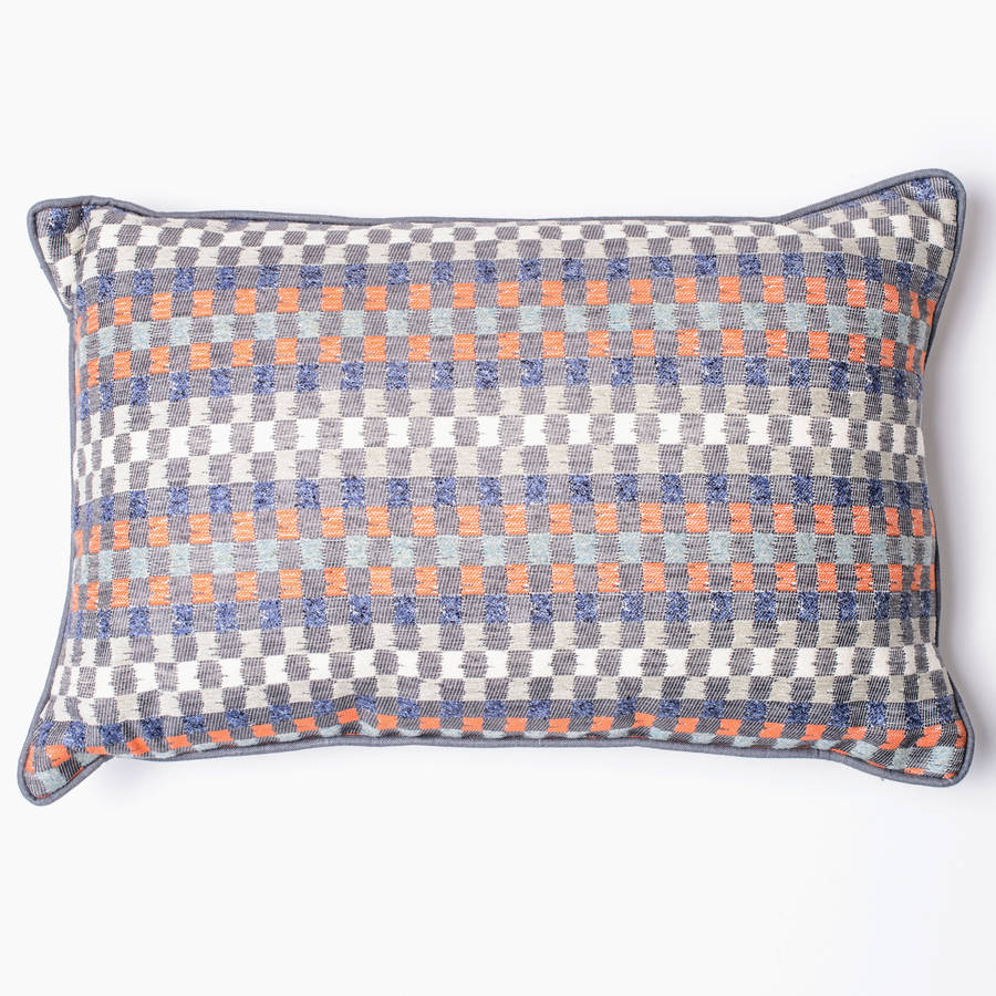 Heather Check Woven Cushion Cover